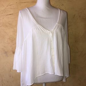 Free people 'pretty little things' white top